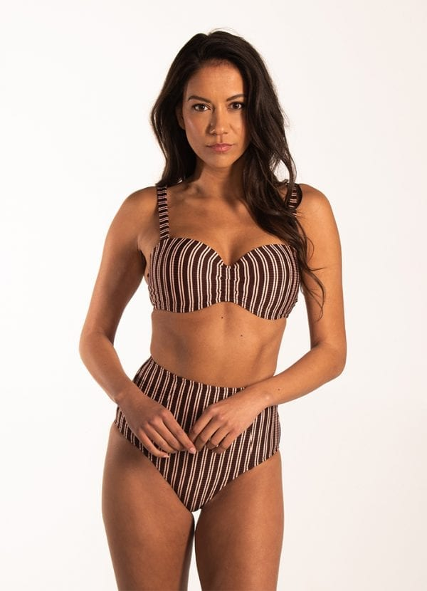 Beachlife Sweet Coffee high waist bikinibroekje bedekte fit