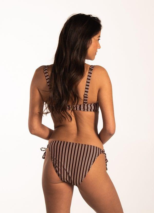 Beachlife Sweet Coffee multiway bikinitop Voorgevormde cups & beugel