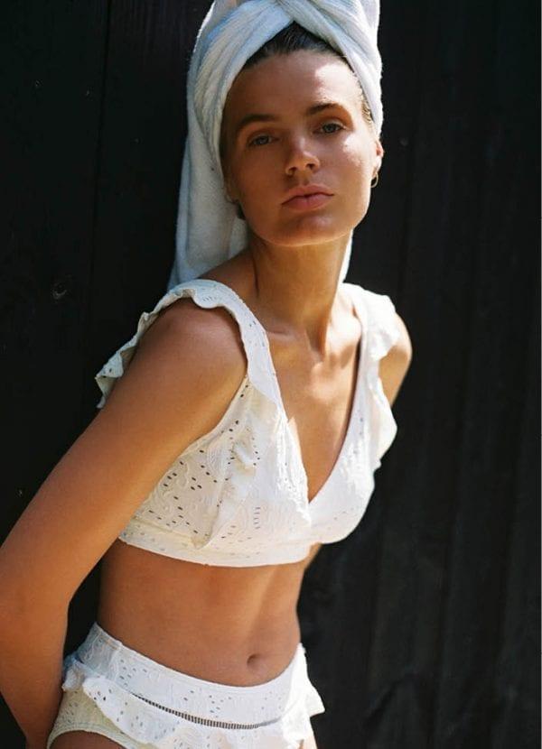 Beachlife swimwear Blanc de Blanc Ruffle bikini SS21