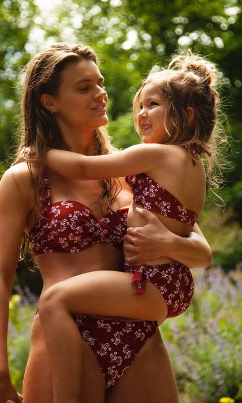 Beachlife swimwear Little Leaves twinning SS21