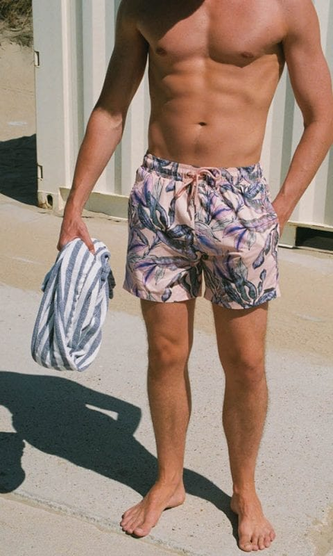 Beachlife swimwear men's swim shorts Tropical Blush SS21
