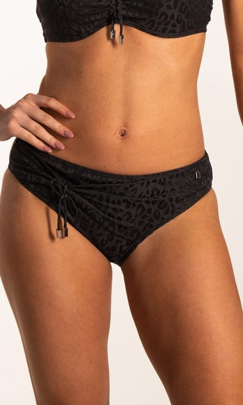 Beachlife Textured Leo hoog bikinibroekje Bedekte fit