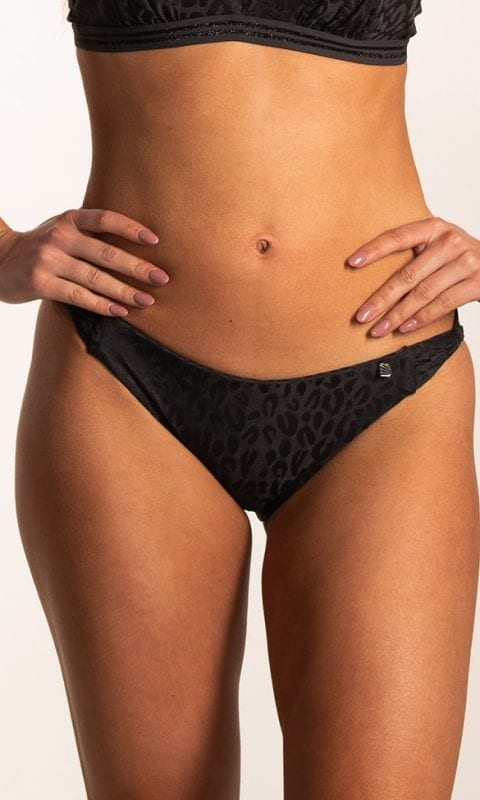 Beachlife Textured Leo twist bikinibroekje Normale fit