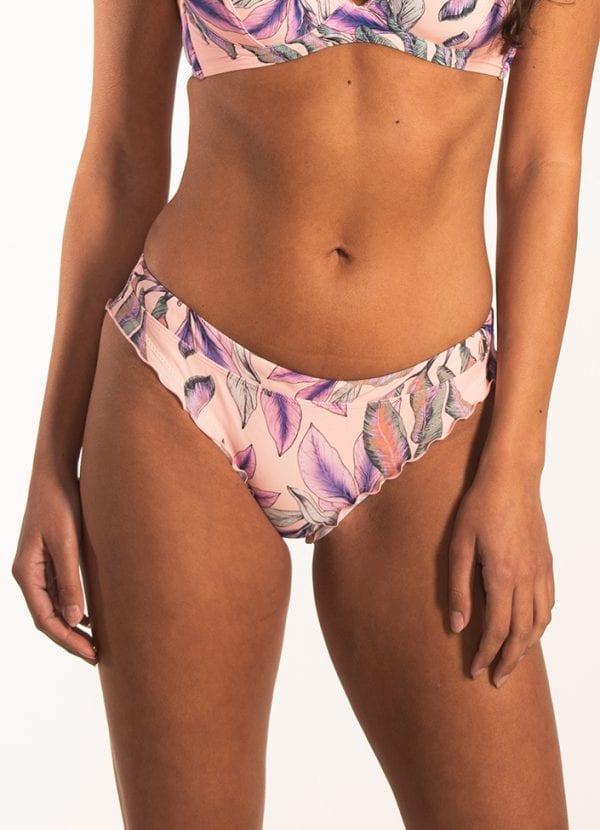 Beachlife Tropical Blush ruches bikinibroekje